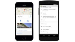 iPhone 5S und Nexus 5 mit Google Maps©Google