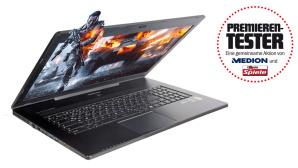 Premierentest des Gaming-Notebooks Medion Erazer X7611©Medion/COMPUTER BILD