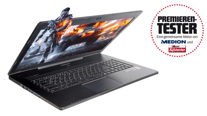 Das Gaming-Notebooks Medion Erazer X7611 im Premierentest©Medion/COMPUTER BILD SPIELE