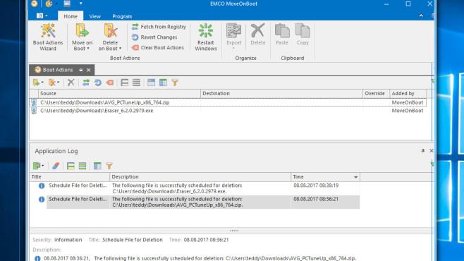 MoveOnBoot: Dateien beim Neustart entfernen ©COMPUTER BILD