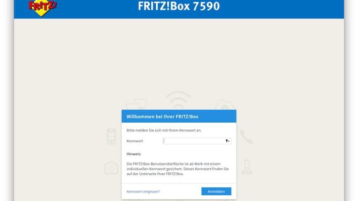 FritzBox-Menü aufrufen