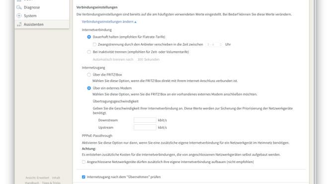 FritzBox am bestehenden Modem / an einer Provider-Box ©COMPUTER BILD