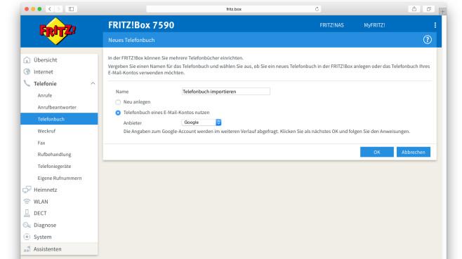 Telefonbuch auf FritzBox übertragen ©COMPUTER BILD