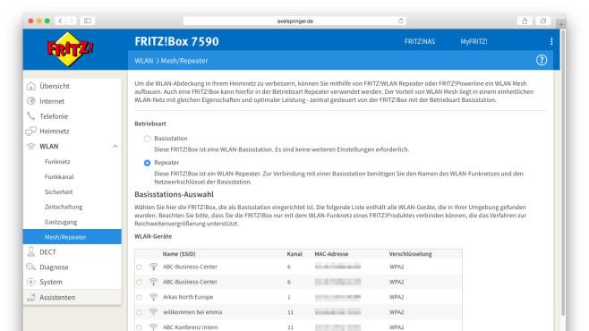 Ältere FritzBox als Repeater nutzen ©COMPUTER BILD