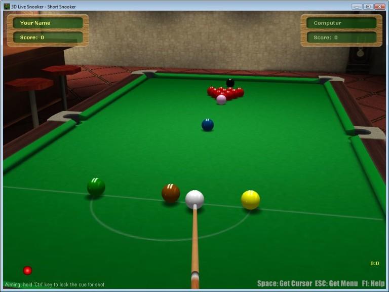 Screenshot 1 - 3D Live Snooker