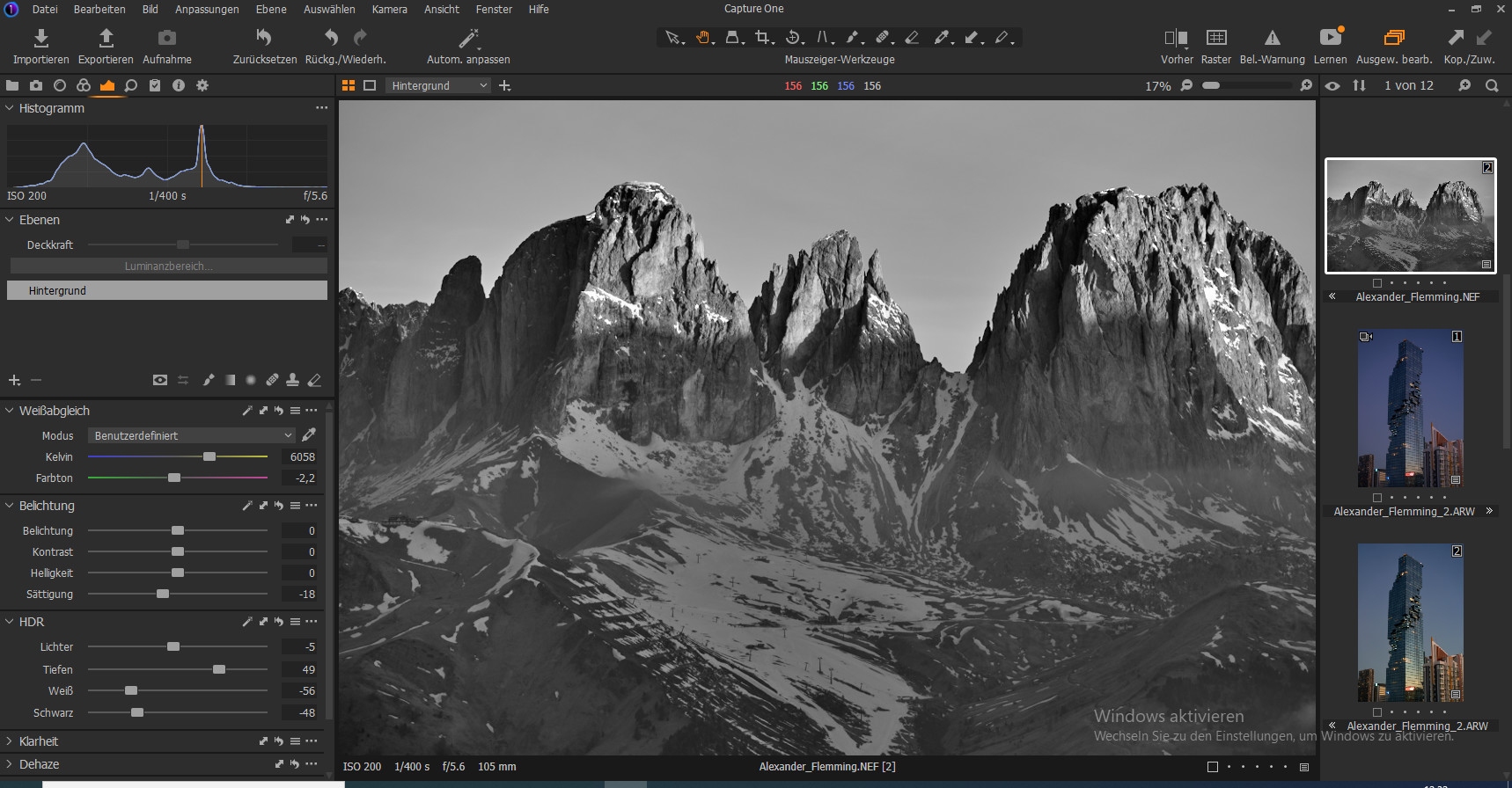 Screenshot 1 - Capture One Pro