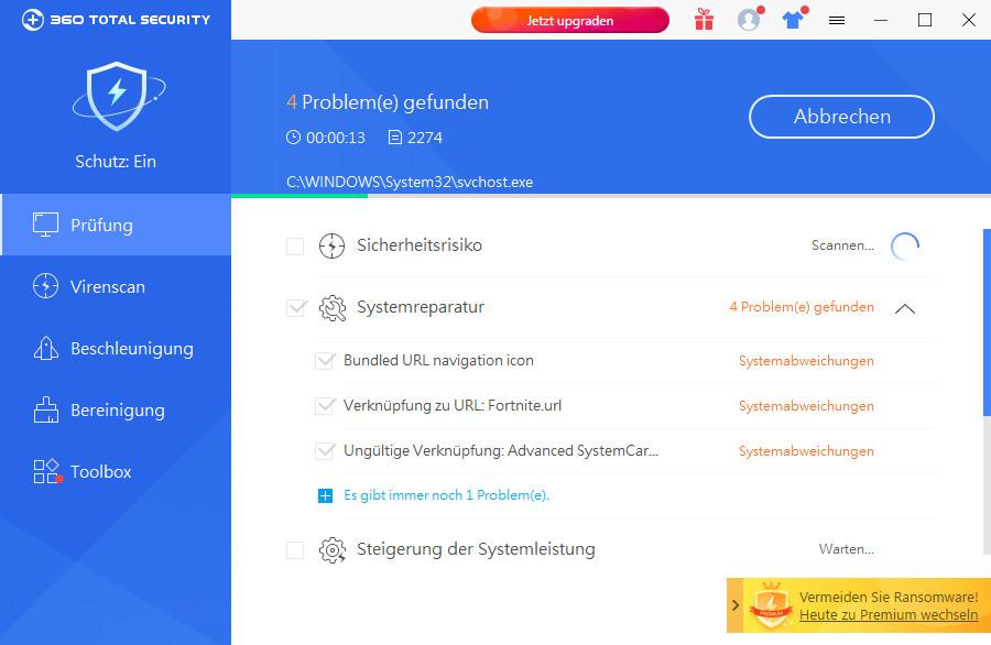 Screenshot 1 - 360 Total Security