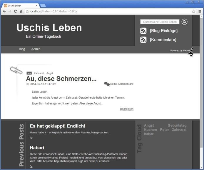 Screenshot 1 - Habari