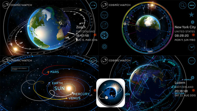 Cosmic Watch – A World Clock © Celestial Dynamics Ltd