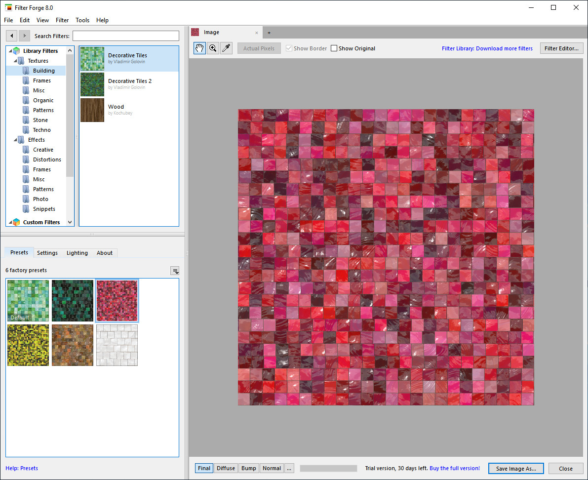 Screenshot 1 - Filter Forge