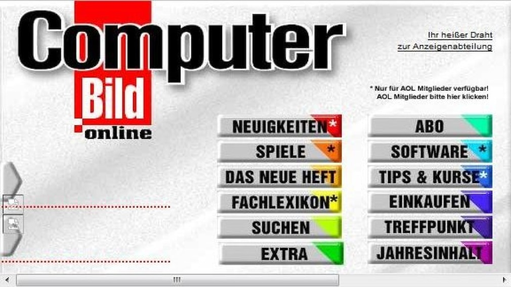 Digitale Zeitreise: So sahen Top-Webseiten früher aus – Google, MSN, Yahoo & Co. Die Website der COMPUTER BILD gibt es seit 1997. Seitdem hat sich optisch und inhaltlich einiges getan. Es gibt etwa Webcodes, die im Heft angegeben sind und Sie zu Online-Artikeln führen.©COMPUTER BILD
