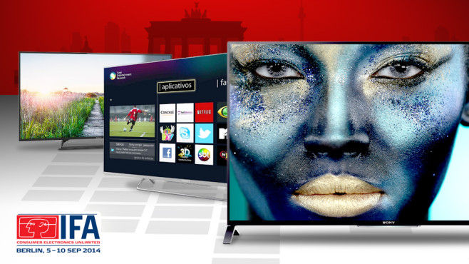 Fernseher-Test©IFA, Sony, Panasonic, JiSign - Fotolia.com