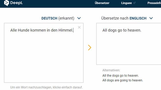 DeepL Übersetzer: Inhalte in andere Sprachen bringen ©COMPUTER BILD