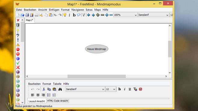 FreeMind: Mindmaps erstellen ©COMPUTER BILD
