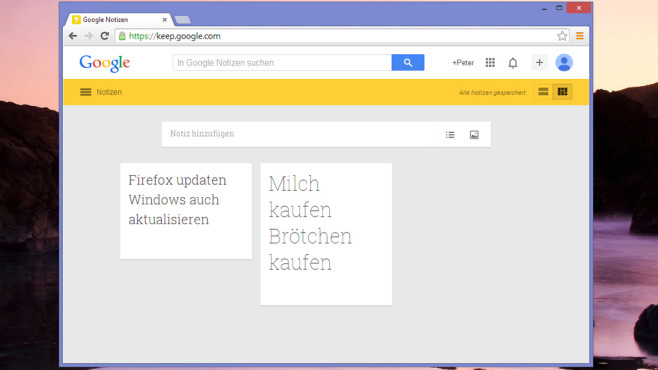 Google Notizen (Keep): © COMPUTER BILD