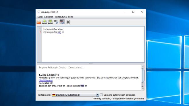 LanguageTool: Rechtschreib- und Grammatikfehler finden ©COMPUTER BILD