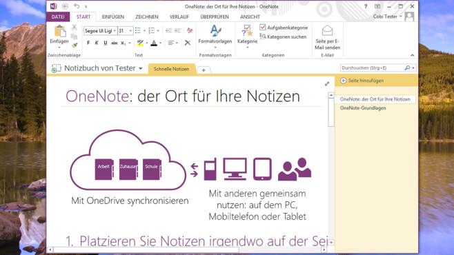 Microsoft OneNote Free: Komfortables Notizprogramm ©COMPUTER BILD