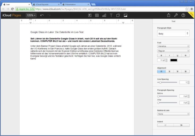 Screenshot 1 - iWork