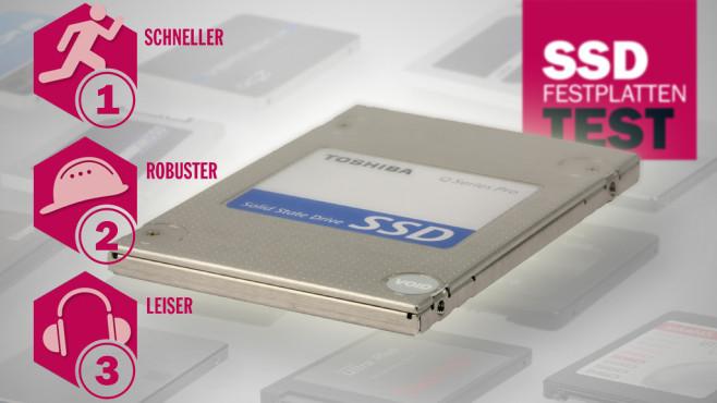 SSD-Festplatten im Test ©Toshiba, COMPUTER BILD