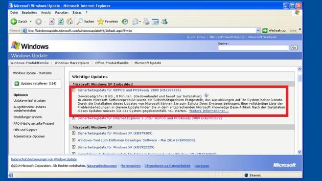Windows XP: So bekommen Sie noch Updates ©COMPUTER BILD