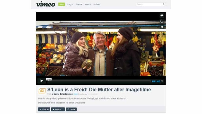 S'Leben is a Freid © Screenshot: vimeo.com / al dente Entertainment