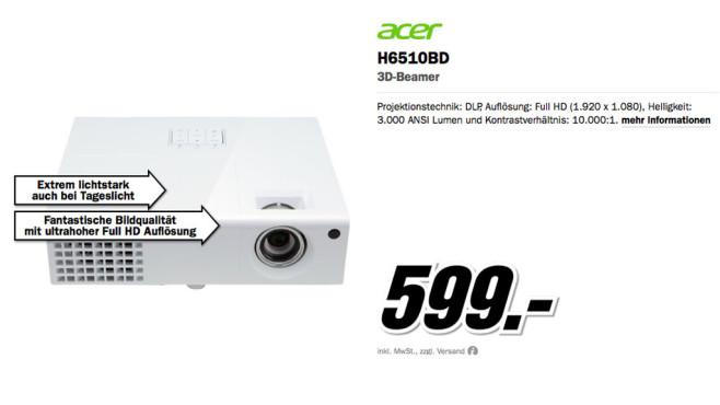 Acer H6510BD ©Media Markt