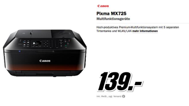 Canon PIXMA MX725 ©Media Markt