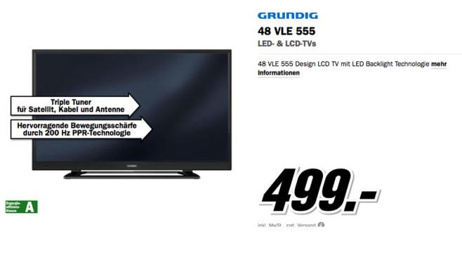 Grundig 48 VLE 555 ©Media Markt