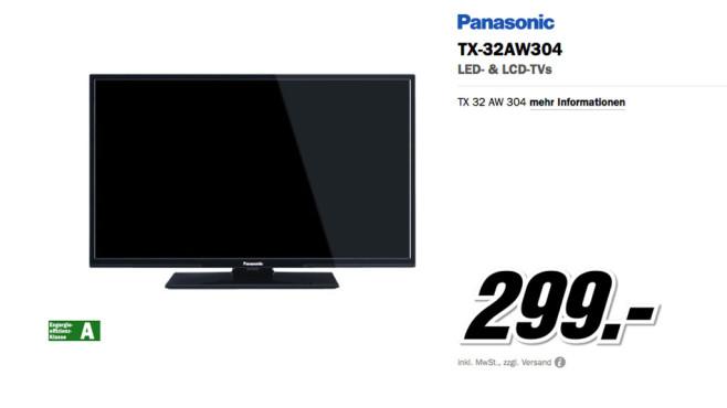 Panasonic TX-32AW304 ©Media Markt