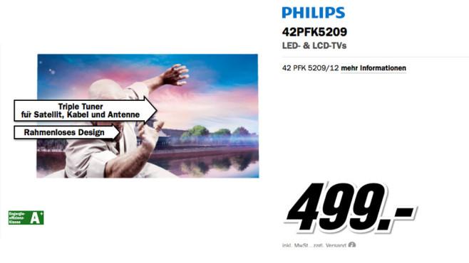 Philips 42PFK5209 ©Media Markt