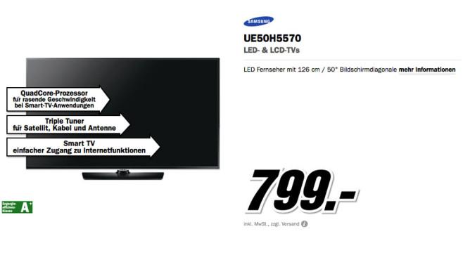 Samsung UE50H5570 ©Media Markt