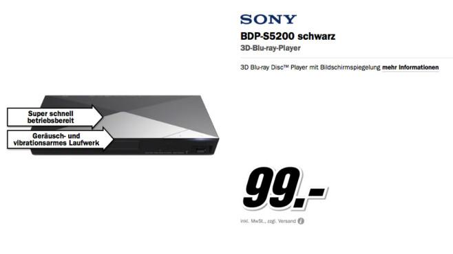 Sony BDPS5200B ©Media Markt