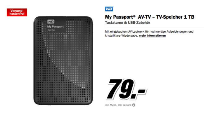 Western Digital My Passport AV-TV 1TB ©Media Markt