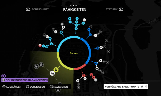 Actionspiel Watch Dogs: Skill Tree © Ubisoft