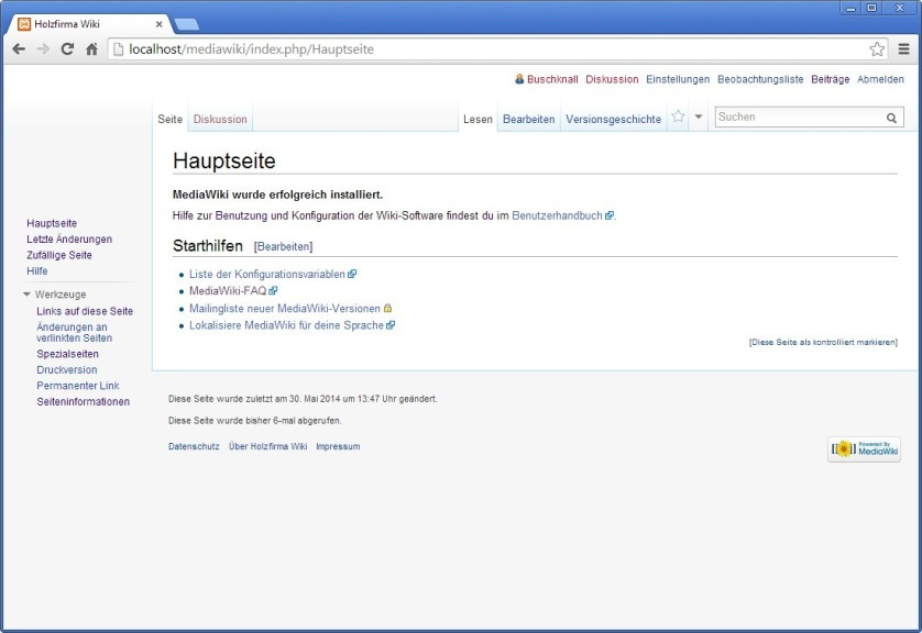 Screenshot 1 - MediaWiki
