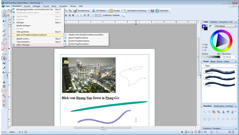 Screenshot 1 - Serif DrawPlus Starter Edition