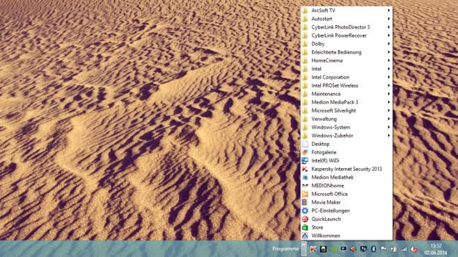 Windows 8 verbessern: Startmenü ohne Zusatz-Software nachrüsten Ein einfacher Kniff ergänzt ein Startmenü mit Listen-Ansicht.©COMPUTER BILD