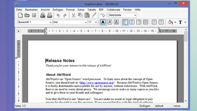 Alternative: AbiWord, Notepad Replacer ©COMPUTER BILD