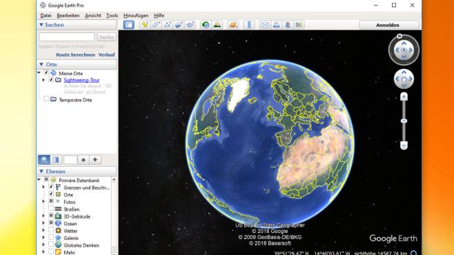 Alternative: Google Earth ©COMPUTER BILD