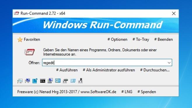 Alternative: Run-Command ©COMPUTER BILD