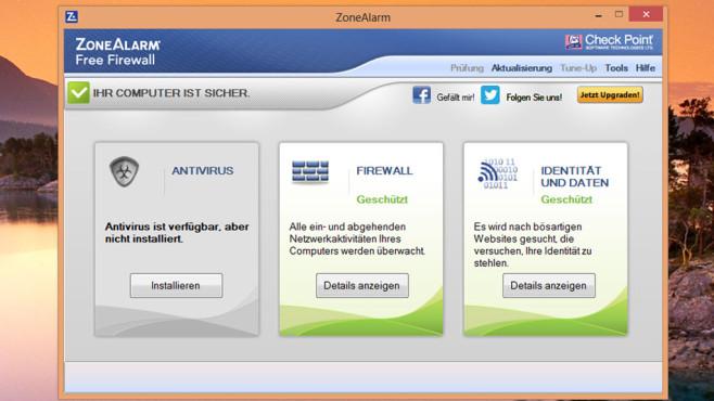 Alternative: ZoneAlarm Free Firewall, Comodo Firewall Free ©COMPUTER BILD