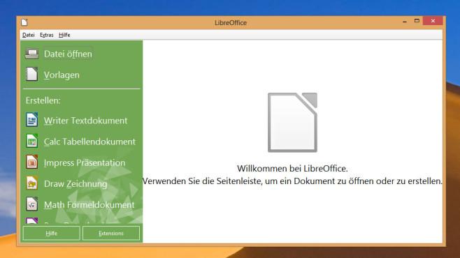 Alternativen: OpenOffice, LibreOffice ©COMPUTER BILD