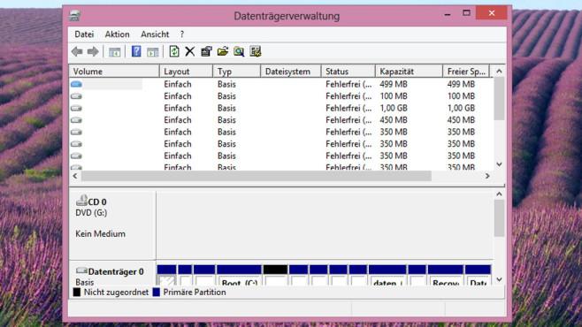 Datenträgerverwaltung ©COMPUTER BILD