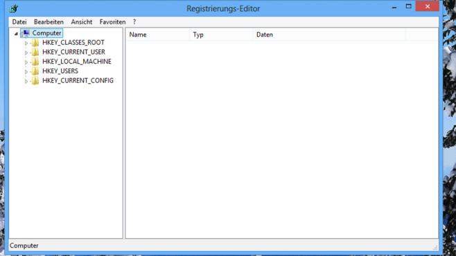 Registry-Editor ©COMPUTER BILD