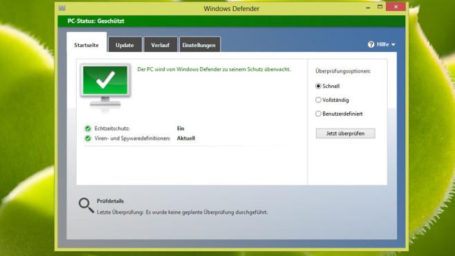 Windows Defender ©COMPUTER BILD