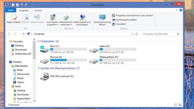 Windows Explorer ©COMPUTER BILD