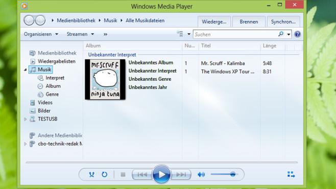 Windows Media Player ©COMPUTER BILD