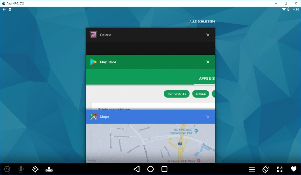 Andy (Android Emulator) 47 0 1096 - Download - COMPUTER BILD