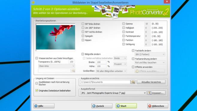 Dateiformate ändern: Die 70 besten Konvertierungs-Programme für Windows Der Ashampoo Photo Converter 2 ist in Sachen Einfachheit kaum zu schlagen.©COMPUTER BILD