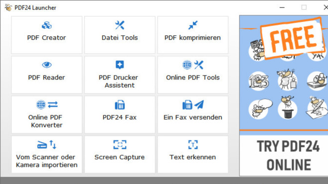 Dateiformate ändern: Die 70 besten Konvertierungs-Programme für Windows Der PDF24 Creator erzeugt PDFs und profiliert sich mit allerhand Zusatzfunktionen. Hierzu gehört, PDFs ohne Textebene via OCR-Texterkennung durchsuchbar zu machen.©COMPUTER BILD